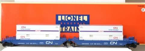 O Scale Lionel Canadian national maxi stack flatca