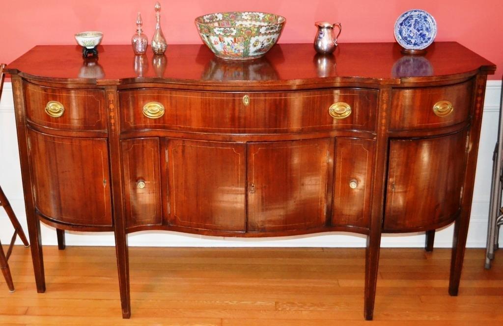 Baltimore Hepplewhite Style Mahogany Sideboard c.1900