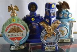 Four Eagles and Veterans Related Whiskey Bottles