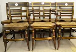 Set of Seven MidAtlantic Sheraton Fancy Chairs