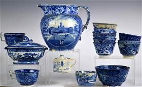 Large Grouping of 19th Century  Blue Transferware