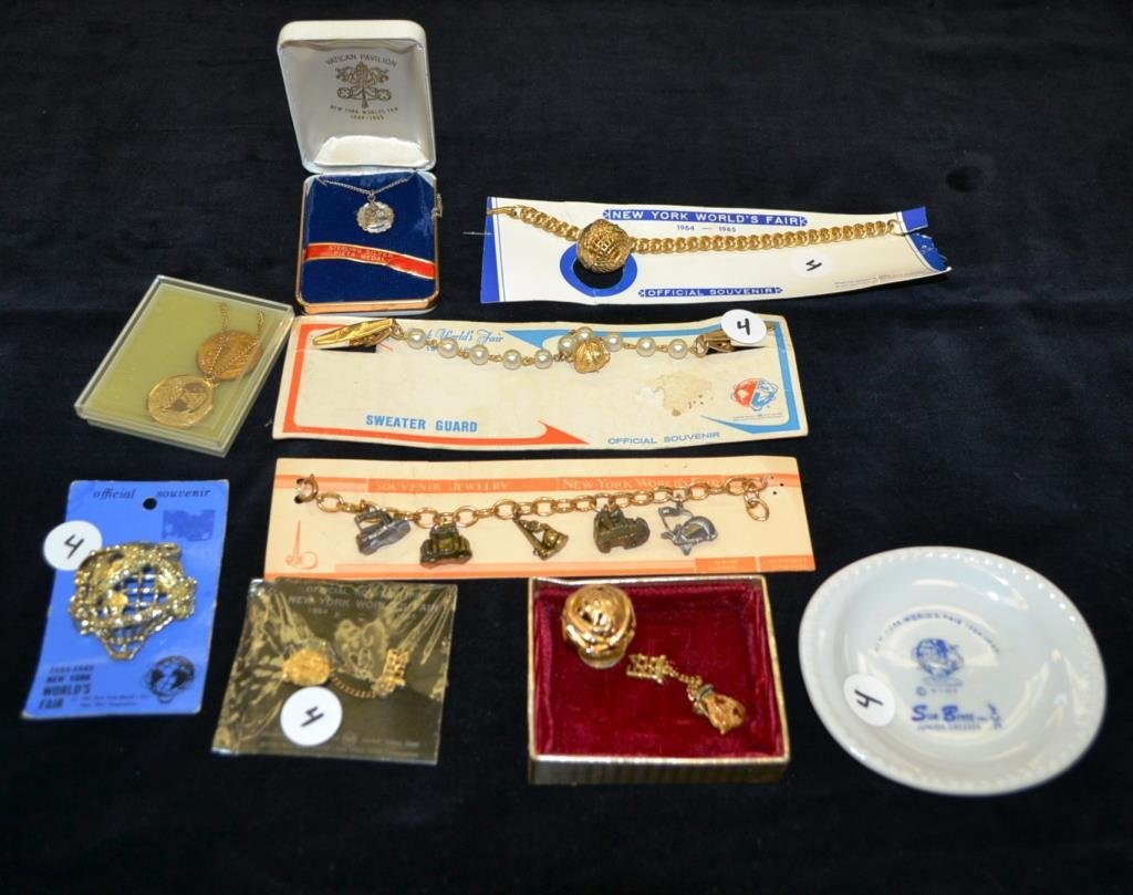 Jewelry Grouping from 1964 Worlds Fair