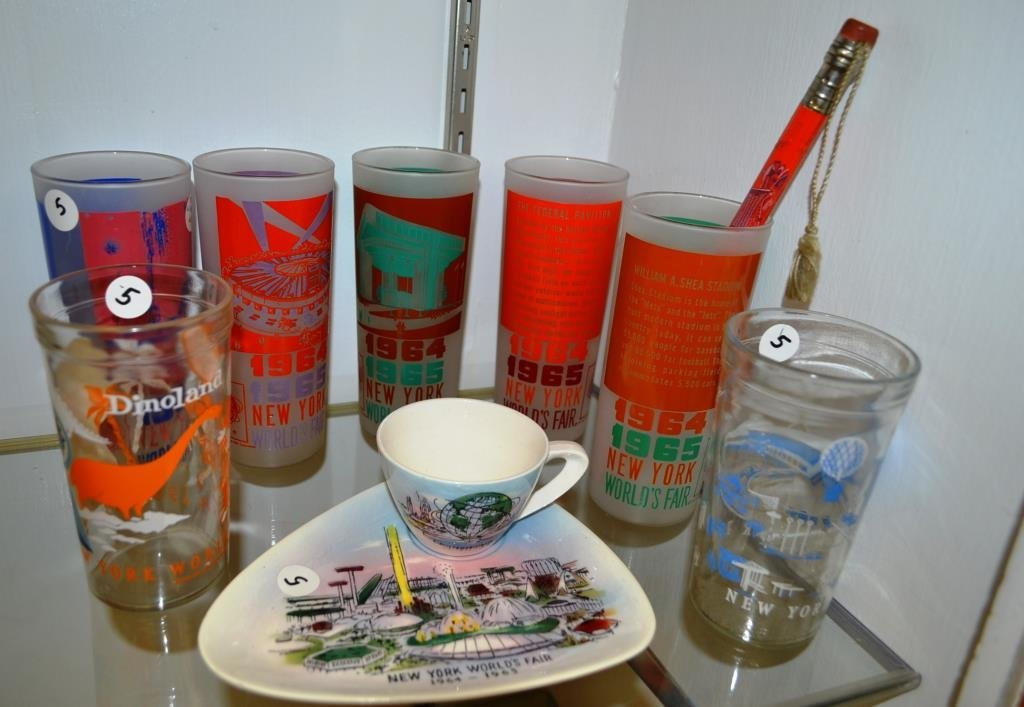 Grouping of Glasses from the 1964 Worlds Fair