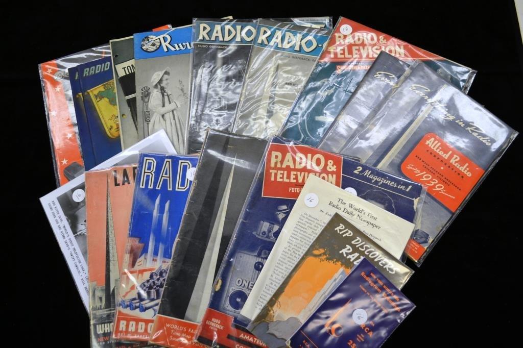 Radio Related Ephemera from 1939 New York Worlds F
