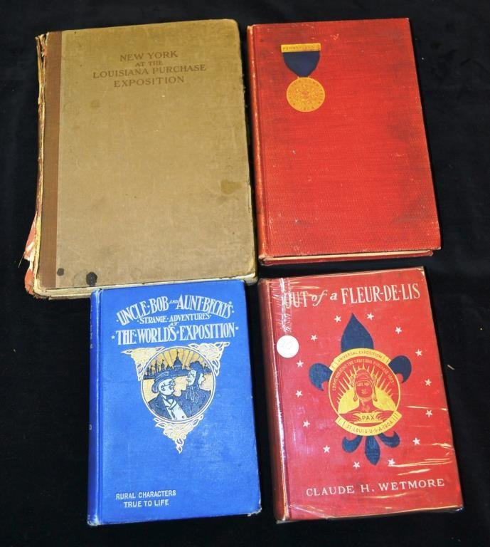 Collection of Four 1904 St. Louis Worlds Fair Book