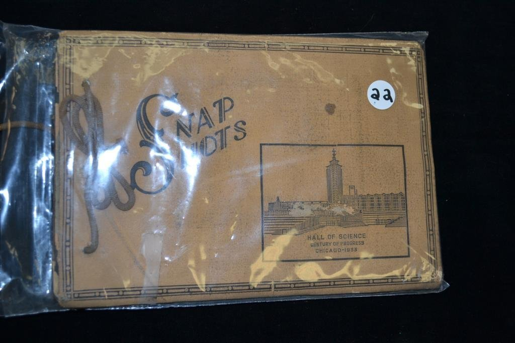 Scrapbook from the 1933 Chicago Worlds Fair