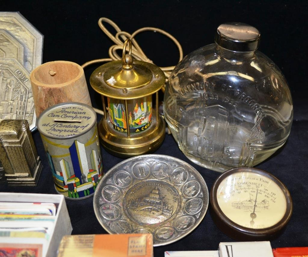 Grouping of 1933 Chicago Worlds Fair Souvenirs - 3