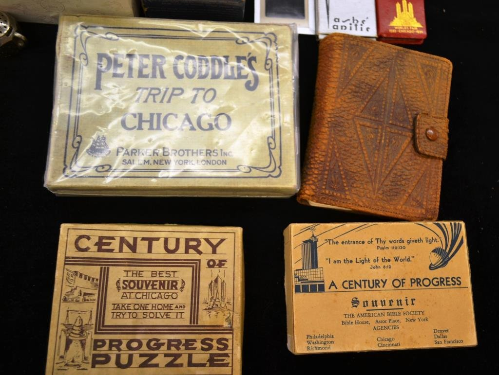 Grouping of 1933 Chicago Worlds Fair Souvenirs - 4