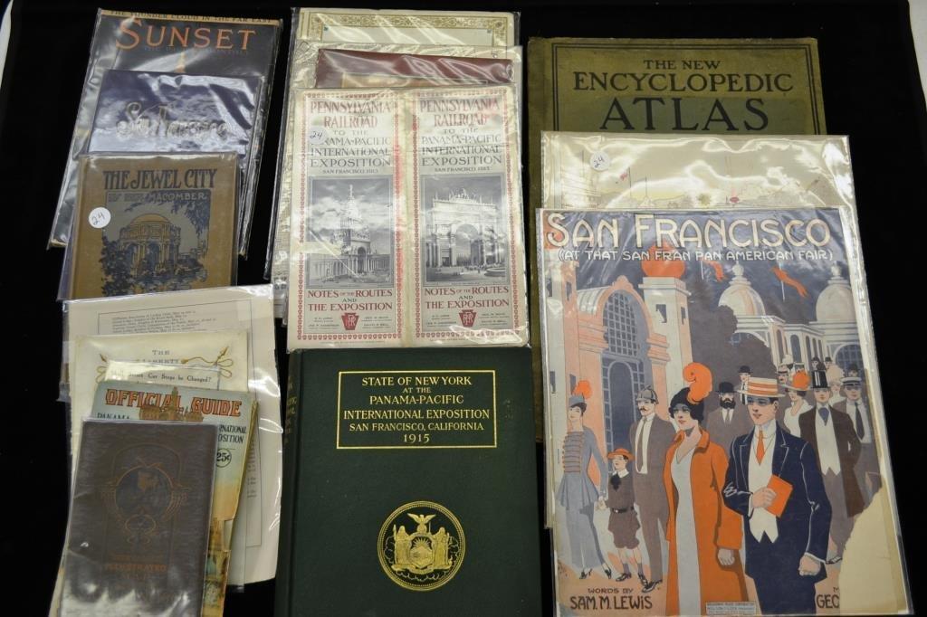 Lot of Books and Ephemera from 1915 Panama-Pacific