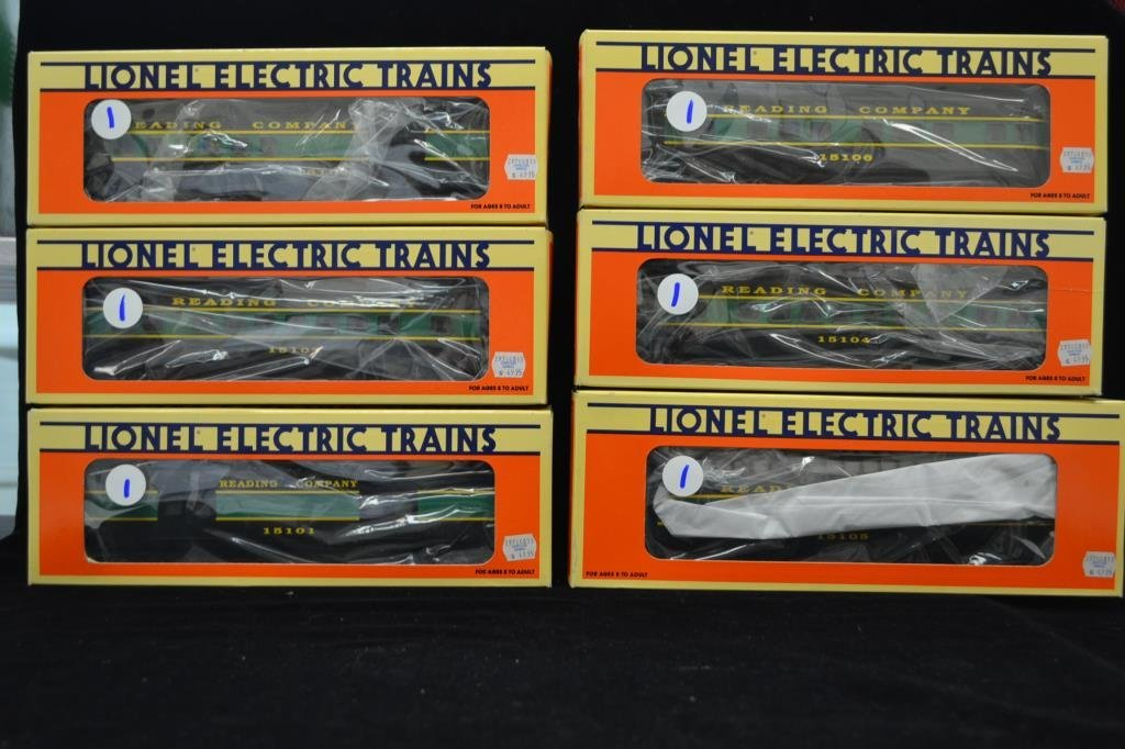 Lionel O Scale Reading Cars Electric Trains
