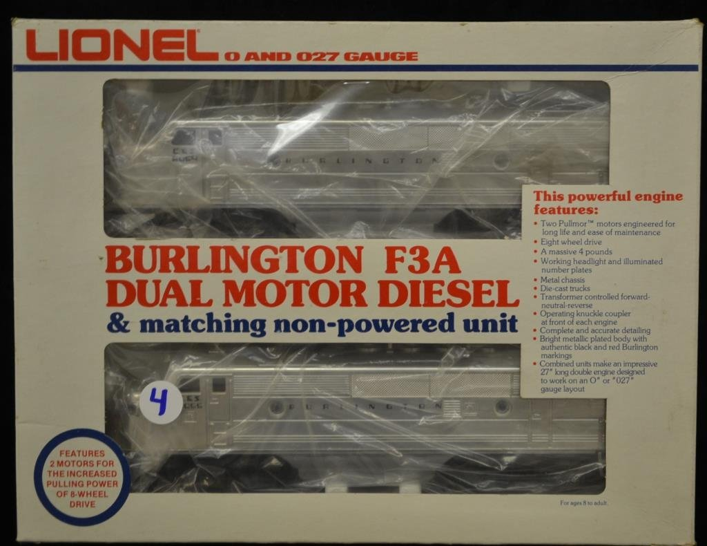 Lionel Burlington F3A Dual Motor Diesel Set