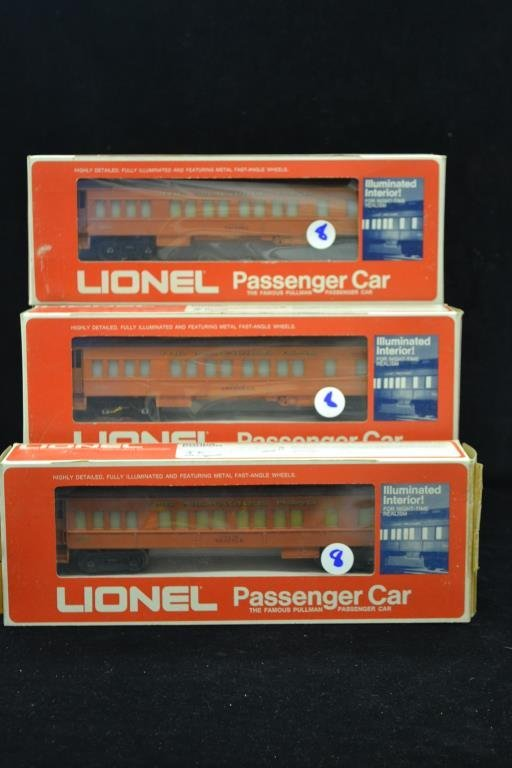 Collection of Three Lionel Passenger Cars