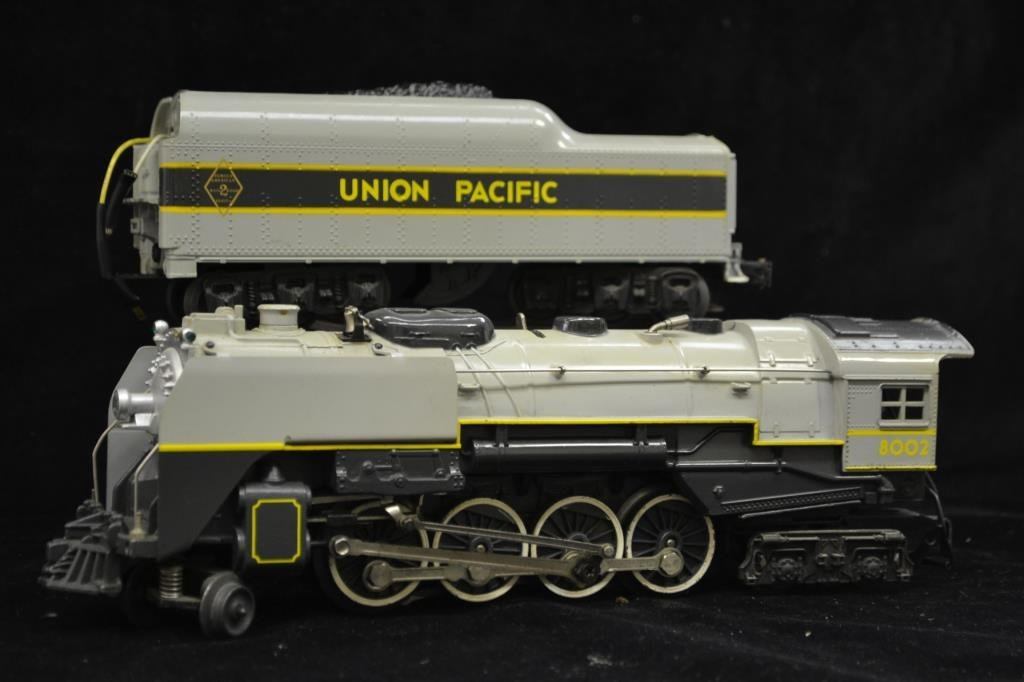 The Lionel O Gauge Union Pacific Engine and Tender