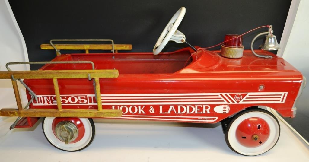 AMF Hook & Ladder No. 505 Pedal Car - 3