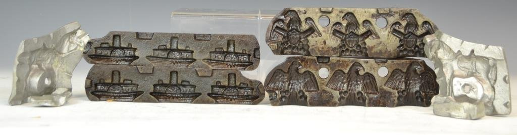 Three Clear Toy Candy  Molds-  Eagle, Witch, Horse