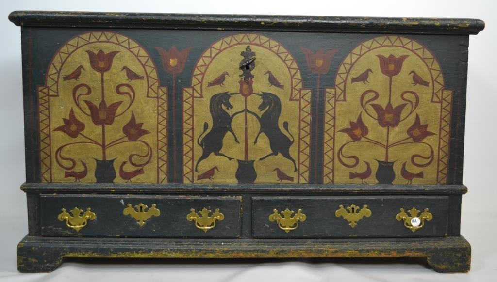 18th Century Burkes County Pennsylvania Dower ches