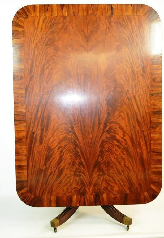 Crotch Grain Mahogany Breakfast Table