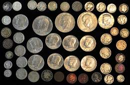 Grouping of US Coins Including Silver