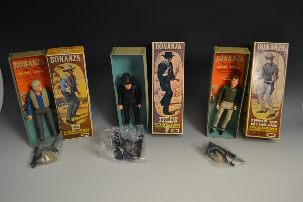 Three NIB Action Bonanza Figures