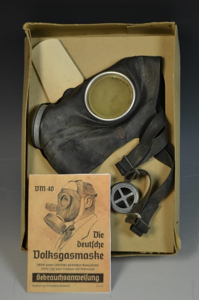 WWII German Civilian Gas Mask Kit