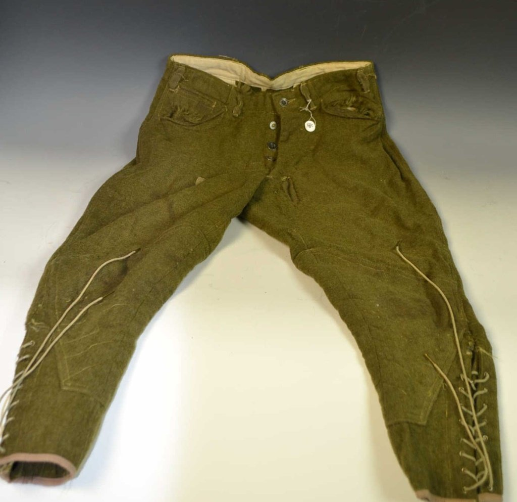 WWI Pants with Field Repairs