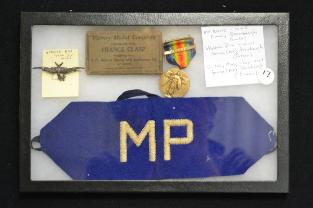 Shadowbox of WWI and WWII Family Medals