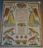1840 GS Peters Printed and Hand Colored Fraktur