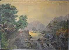19th C. Hudson River valley Style Oil on Canvas