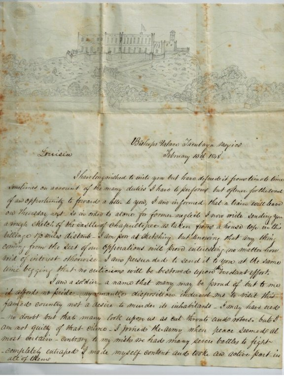 1848 Letter From Mexican American War Soldier