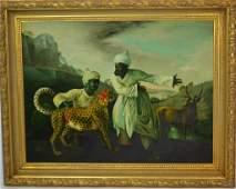 Antique Style Oil Cheetah Hunt