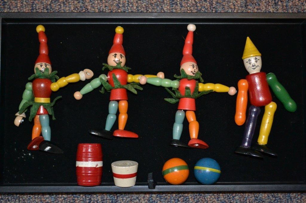 Jaymar Wooden Toy Clown Group