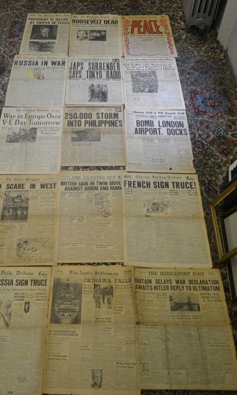 Grouping of Old Newspaper Headlines 1939- 1964