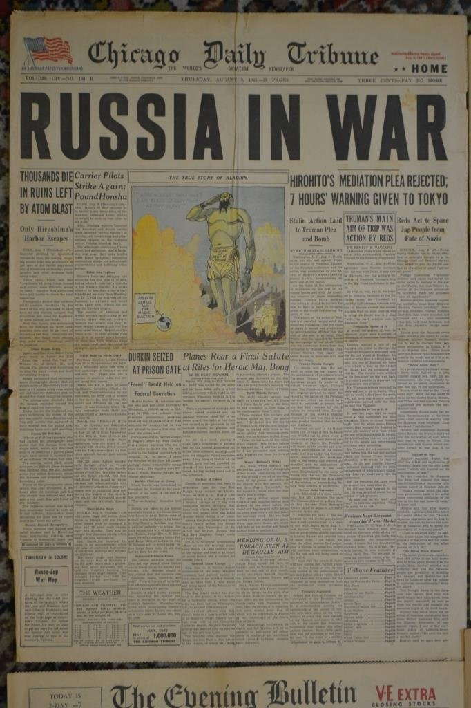 Grouping of Old Newspaper Headlines 1939- 1964 - 5