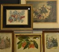 Five Antique & Decorative Engravings/Prints
