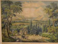 Currier  Ives Lithograph The Hudson Highlands