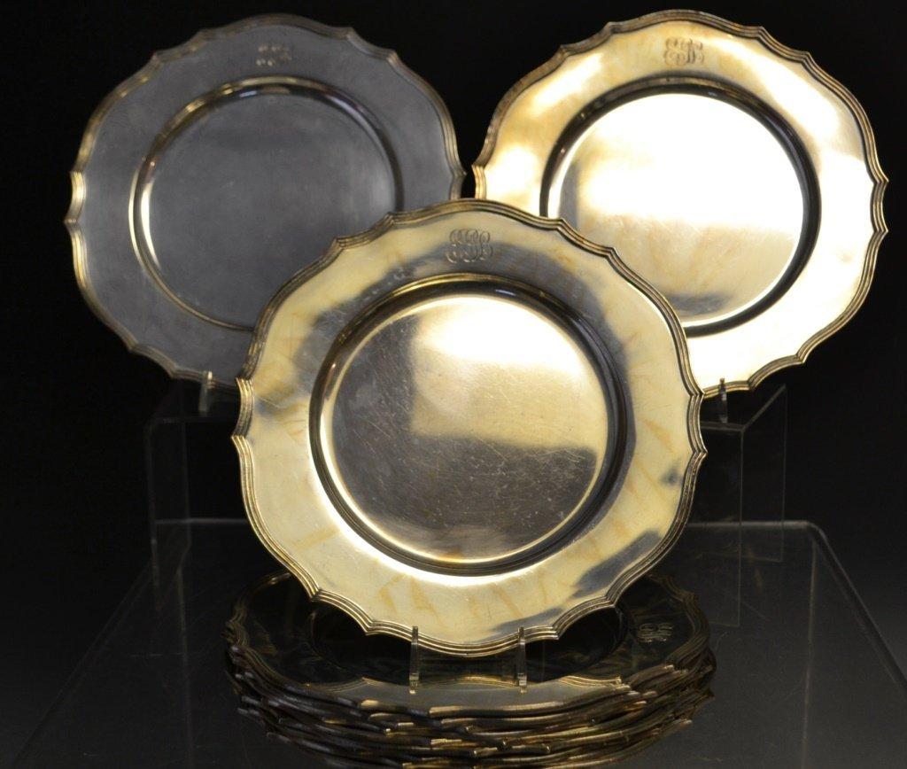 Twelve Sterling Silver Under Plates
