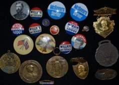Civil War GAR  Political Pin Backs  Medals