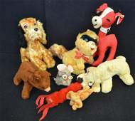 Grouping of 8 Vintage Stuffed Animals incl Gund