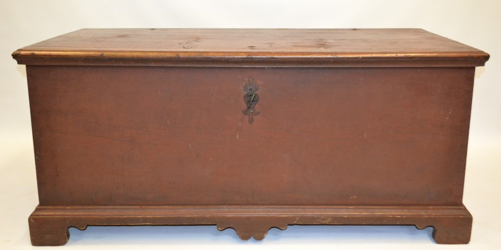 18th C Painted Chippendale Blanket Chest