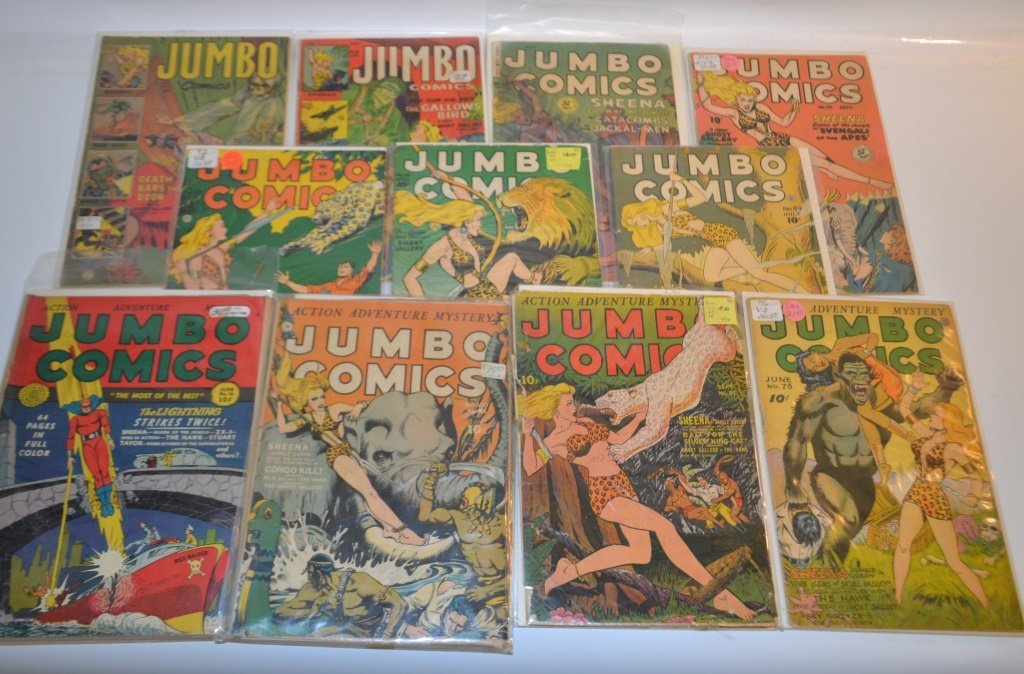 Grouping Of Eleven 10 cent Jumbo Comics