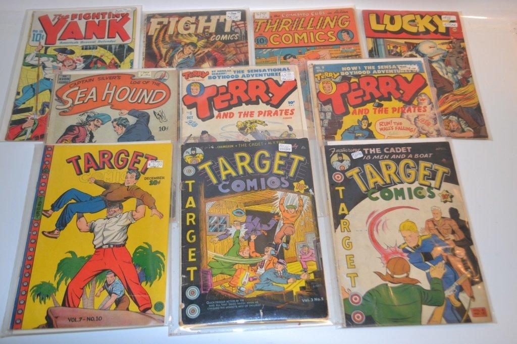 Grouping of Ten 10 Cent Comics