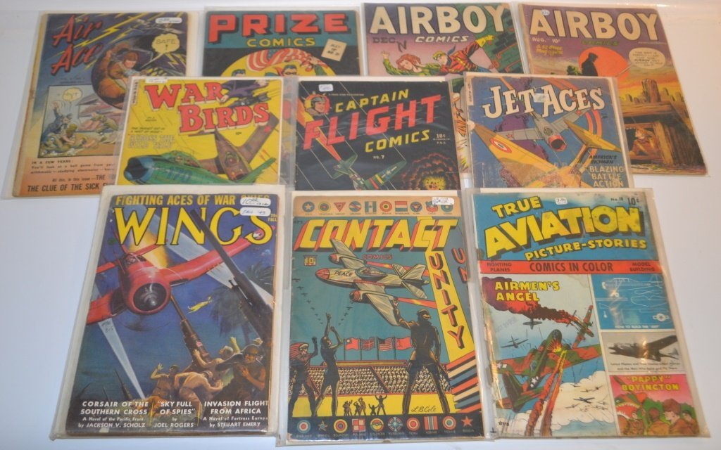 Grouping Of Early Comics