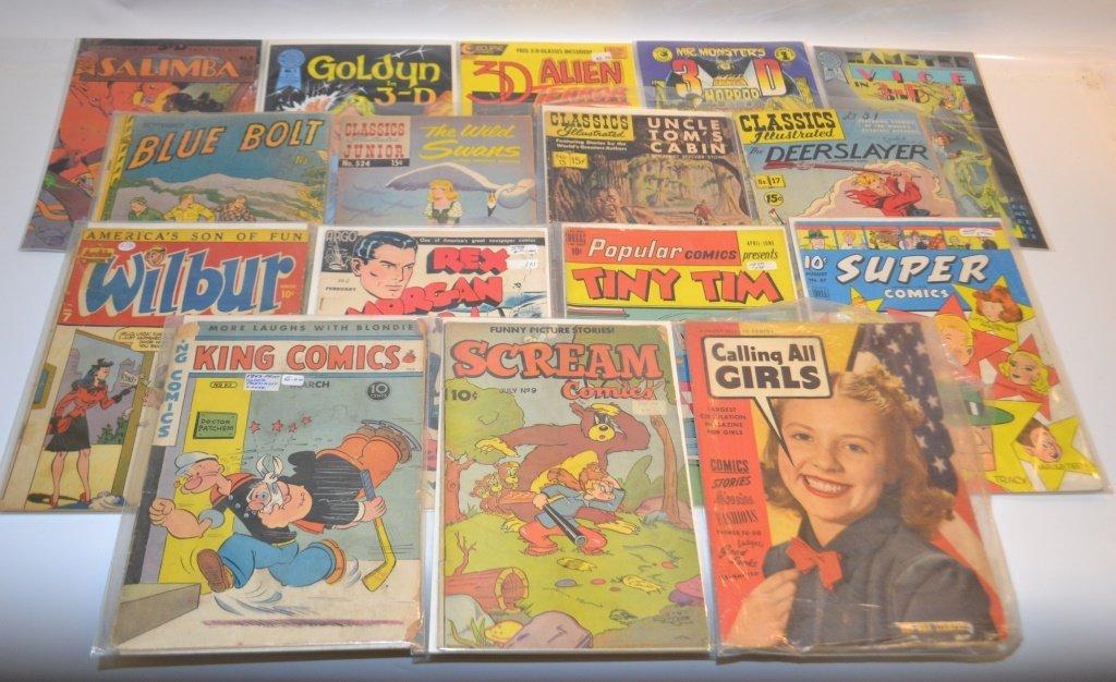 Grouping Of 16 Miscellaneous Comics