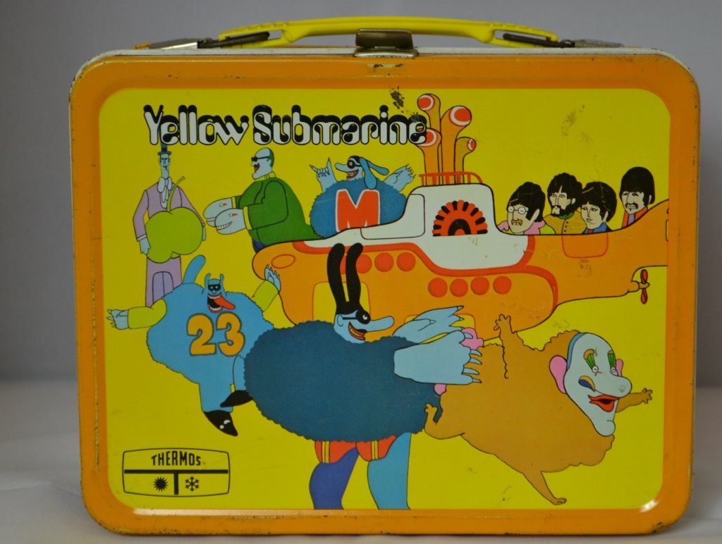 Yellow Submarine Lunch Box with Thermos