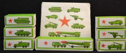 c.1990 Soviet Union Made Die Cast Vehicles