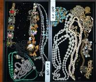 Grouping of Costume Jewelry Two Trays