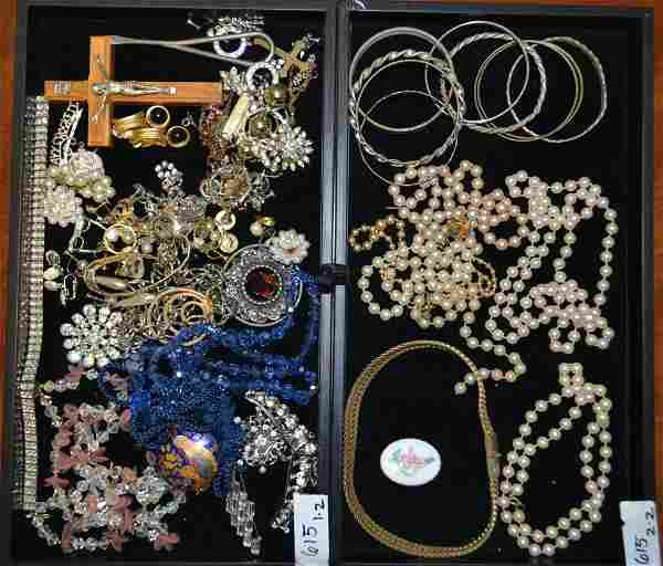 Two Tray Collection of Costume Jewelry
