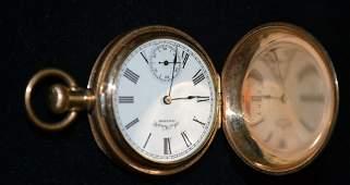 14 Karat Gold Pocket Watch American Waltham