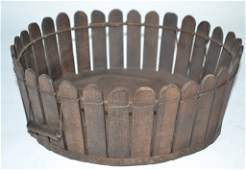 Late 19th Century Shaker Picket Fence Basket
