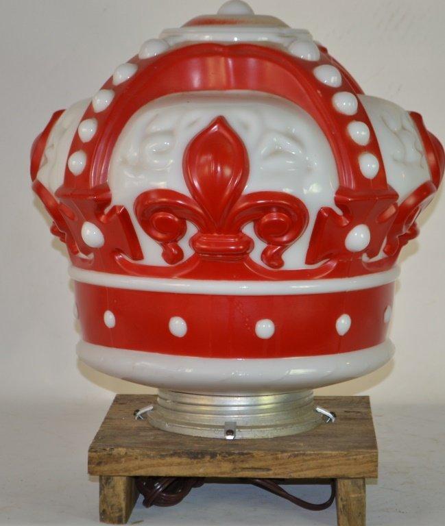 Crown Gas Pump Globe (Electrified)